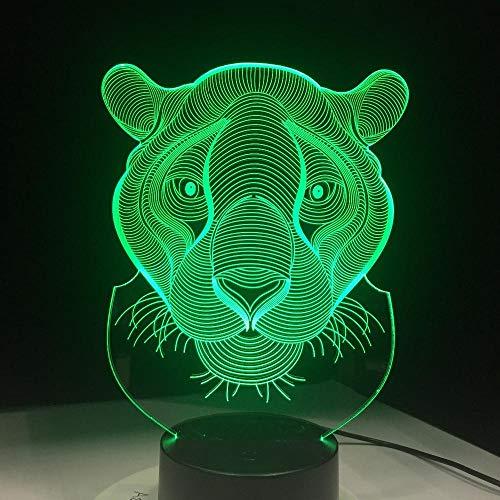 ZSSYD 3D Lámpara Óptico Illusions Luz Nocturna, 16 Colores Regalo De