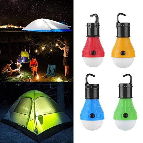 WCY Tragbare Camping-Licht-Zelt-Licht führt Lampe for Hurricane Notfallrucksack Wandern 1Pcs-Blau yqaae (Color : Red)