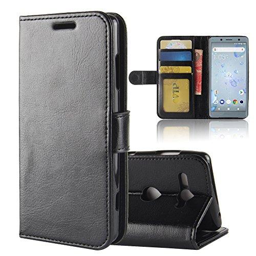 GARITANE Hülle für Sony Xperia XZ2 Compact/H8324 H8314,Handyhülle Hülle mit Magnet Ständer Kartenfächer Schutzhülle Retro Lederhülle für Sony Xperia XZ2 Compact/H8324 H8314 (Schwarz)