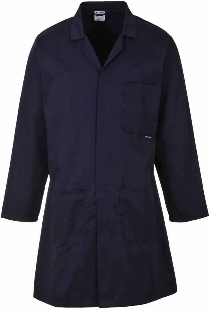 Portwest Workwear 2852 Mens Standard Coat Navy Medium