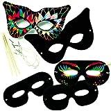 Baker Ross Kratzbild-Masken (10er-Pack), perfekt für Kinder zum Entwerfen und Dekorieren, ideal für Aktivitäten zu Hause, Aufgaben in Handwerksgruppen, Kostüme und Schularbeiten, EK2266, Sortiert