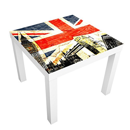 Möbelfolie für IKEA Lack Klebefolie Deko Aufkleber This is London! 55 x 55cm