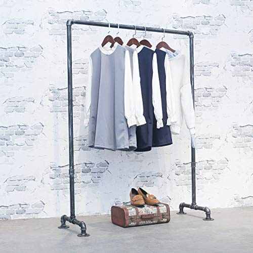 MBQQ Industrial Pipe Clothing RackVintage Commercial Grade Pipe Clothes RacksRolling Rack for Hanging Clothes Retail DisplayHeavy Duty Steampunk Iron Garment Racks