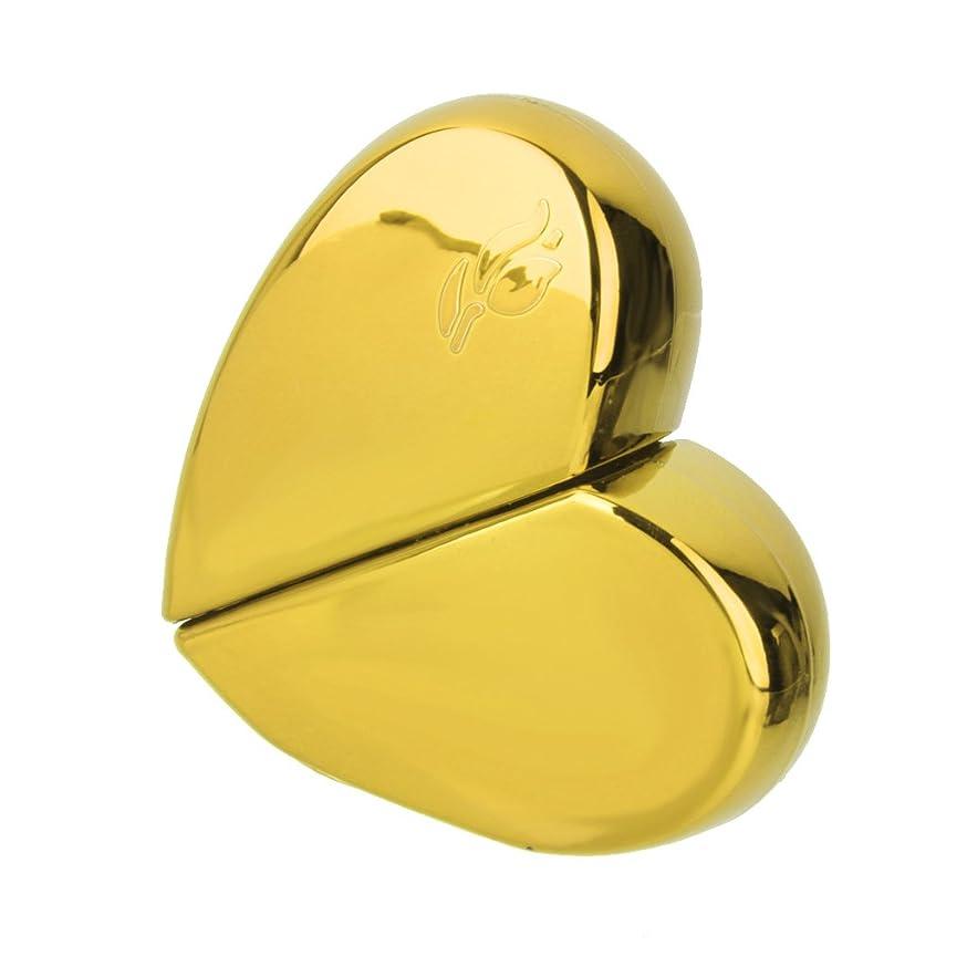 撤退スタジアム時間とともにKOZEEY旅行 ハート型 香水アトマイザー 詰め替えスプレーボトル25ml ゴールド