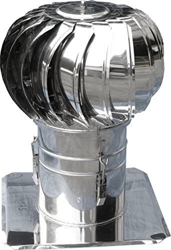 windgetriebener toit ventilateur DN 110 mm Diamètre Tube avec plaque à coller ou aufdübeln