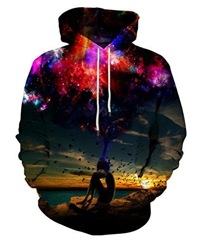 LAIDIPAS 3D Digital Print Athletic Sweaters Hoodie Hooded Sweatshirts S