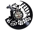 Levesdecor - Felix The Cat Vinyl Wall Clock