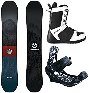 Camp Seven Redwood and APX Men's Complete Snowboard Package New 2020