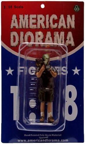 American Diorama - 77734 - Véhicule Miniature - Modèle à L'échelle - Figurines Camera Man - Norhomme - Echelle 1 18