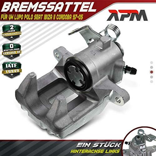 Bremssattel Hinten Links für Arosa 6H Cordoba 6K1 6K2 Vario 6K5 Ibiza II 6K1 Lupo 6X1 6E1 Polo 6N1 6N2 Classic 6KV2 1996-2005 6N0615423A