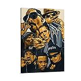 LIULANG Dr DRE Snoop Dogg Eminem Ice Cube Leinwand Kunst Poster & Wandkunst Bilddruck Moderne Familienzimmer Dekor Poster 08x12inch(20x30cm)