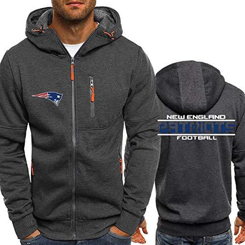 LLforever NFL Hoodie, New England Patriots Football-Sweatshirts für Männer Herbst New Jersey High Neck Hoodie T-Shirt,M