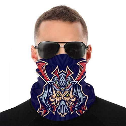 best pillow Schädel Samurai Maske Esport Logo Vorlage mit Schlauchschal Herren Damen Bandana UV-Schutz Loop-Schal Schlauchtuch Nackenwärmer Motorradschal Mundmaske Vielseitig Elastisch