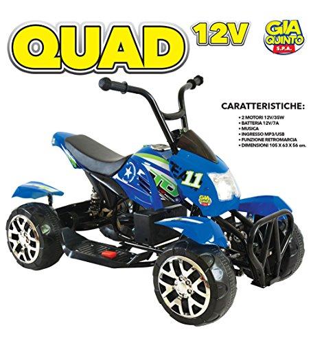 ELT.QUAD 12V BLU GVC-5355