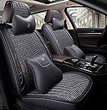 Cojín de asiento de coche a prueba de agua PU de cuero del asiento de coche conjunto cubierta completa, para para Audi A3 / A4 / A5 / A6 / A8 / P3 / P5 / RS4,Gris
