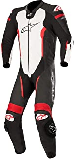 Alpinestars Missile Leather One-Piece Suit (Tech Air Compatible) (60) (Black/White/Red Fluo/Yellow Fluo)