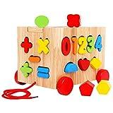 Dirgee Holz Block Kategorie Spielzeug Meine ersten Holzblöcke Lernen Paarung Geschenke Kleinkind Spielzeug for Kinder Kinder Pädagogische Spielzeug (Farbe: Mehrfarbig, Größe: Freie Größe)