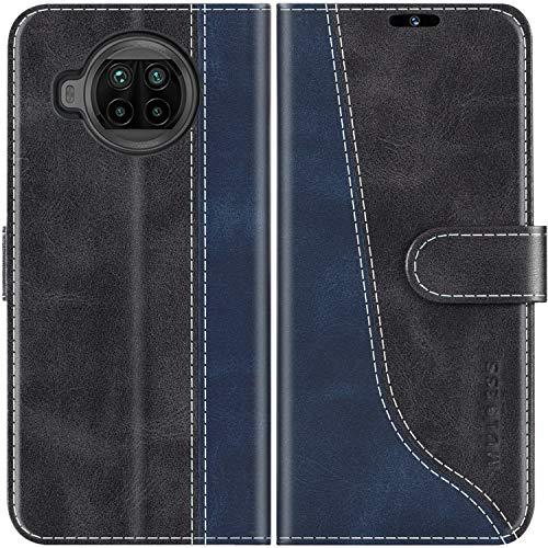 Mulbess Handyhülle für Xiaomi Mi 10T Lite Hülle, Xiaomi Mi 10T Lite Hülle Leder, Etui Flip Handytasche Schutzhülle für Xiaomi Mi 10T Lite 5G Hülle, Schwarz
