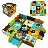 MSHEN Tappeto Puzzle 25 Pezzi Tappetini Bambini da Pavimento con Recinto, Tappetino Lavabi...