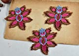 5 Unids/lote 7 * 6.5cm Mini Flor Apliques de Encaje Collar Bordado Foral Escote Encaje para Ropa de Niños, B