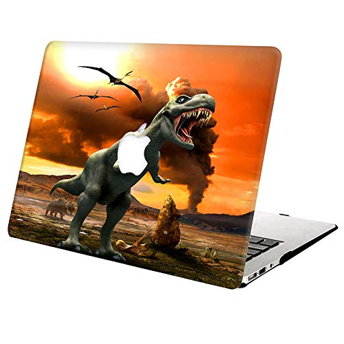 MacBook Pro 13 Inch Case A1502 A1425 Release 2015 2014 2013 2012,AJYX Plastic Hard Shell Snap On Case for Old Version Laptop Mac Pro Retina 13 - Tyrannosaurus
