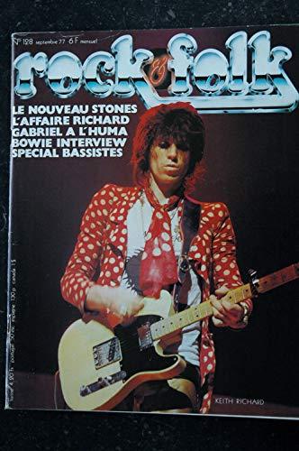 ROCK & FOLK 128 SEPTEMBRE 1977 COVER KEITH RICHARD Peter GABRIEL David BOWIE Rolling Stones