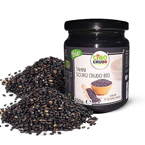 CiboCrudo Tahini Scuro, Burro di Sesamo Nero, Crudo Bio, Sesame Butter, Integrale al 100%, Crema per...