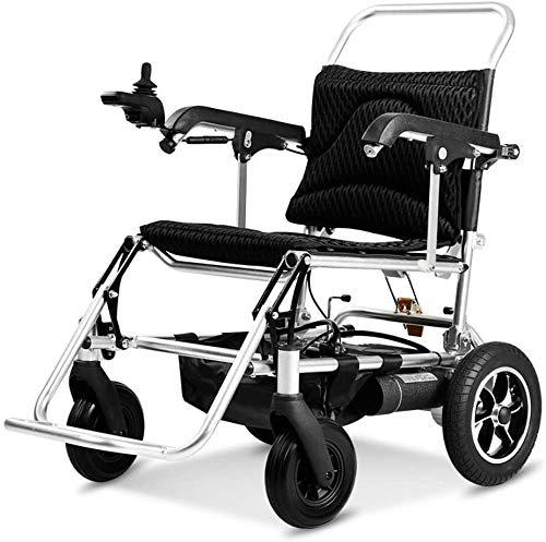 Syxfckc Elektro-Rollstuhl, die intelligente automatische Faltung, Ultra-Portable, ältere Rollstühle, Vollgummireifen, Alurahmen