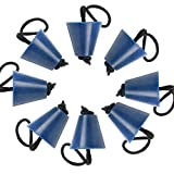Amarine Made Pack of 8 Universal Kayak Scupper Plug Kit,Silicone Scupper Plugs Drain Holes Stopper Bung with Lanyard Fit for Kayaks Canoes (Blue)