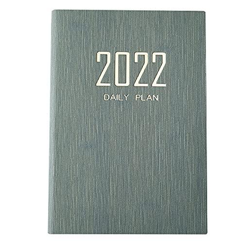 Libro di pianificazione della gestione del tempo, calendario a colori 2022 date Creative Table Coil Planner promemoria scrivania (verde scuro)