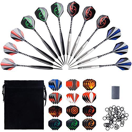 WenderGo Steel Tip Darts,12 Packs 23 Grams Darts Set,with 36 Darts...