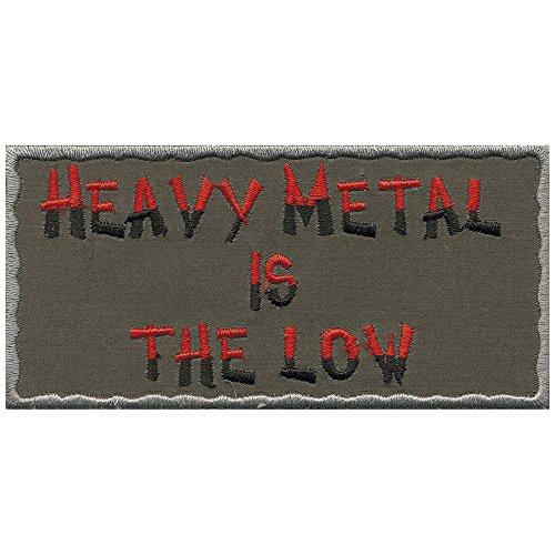 Logotipo de Metal parche de parche con texto