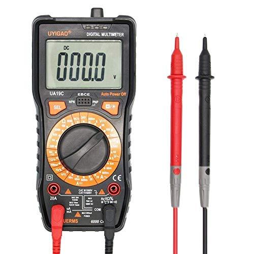 ZGQA-GQA Instrumento precisa Mini multímetro UA19C LCD Digital del probador del multímetro de la capacitancia de frecuencia Amp Amp Temperatura Profesional Multímetros