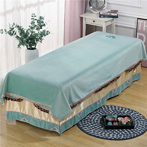 DXTY Laken Für Behandlungsliege Mit Gesichtsloch Anti-Slip Massageliegenbezug Volltonfarbe Massage-bettbezug Bezüge Flanell-Set Für Massageliegen Alle-runde Umhüllung L 120x200cm(47x79inch)