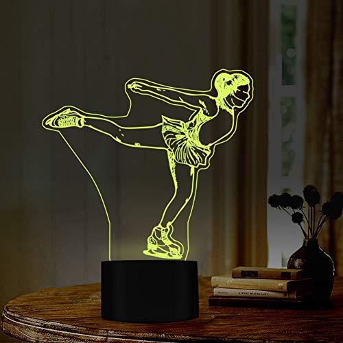 LLZGPZXYD ijskunstloop-stijl nachtlampje, 7 kleuren, met USB-aansluiting, ideaal geschenk voor sporters, vrienden, decoratie Aanraken