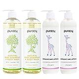 Puracy Organic Baby Care Gift Set, Moisturizing Lotion, Natural Baby Shampoo...
