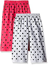 SINIMINI Girls Printed Pretty Capri (Pack of 2)