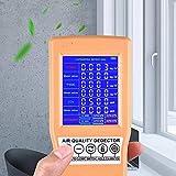 4YANG Medidores de Calidad de Aire Interior de C02 Formaldehído(HCHO) TVOC Alta Precisión Recargable Portátil Medidor de Calidad del Aire Pantalla LCD en Color Digital Detector de Gases Múltiples