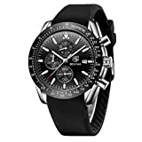 BENYAR - Wrist Watch for Men, Silicon Strap Watches Quartz Movement, Waterproof and Scratch Resistant, Analog Chronograph Business Watches