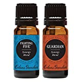 Edens Garden Fighting Five & Guardian Essential Oil Synergy Blend, 100% Pure Therapeutic Grade (Aromatherapy Oils), 10 ml Value Pack