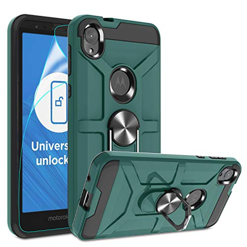 Moto E6 Magnetic Rotating Case by Atump