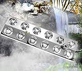 Kacsoo 12 Testa Fogger ad ultrasuoni per nebulizzatori, umidificatore per nebbie da 6kg/h con trasformatore per Fontana Stagno Stagno Giardino Roccioso Acquario Vaso Birdbath Giardino Prato Uso Stagno