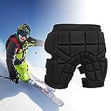 Qomolo Padded Short, Protective Hip Padded Ski Protective Pants for Skiing, Skateboarding, Snowboard, Snowmobile and Hockey