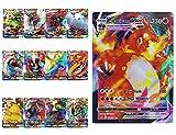 Cartas Pokemon V Vmax (40VMAX + 60V), 100 tarjetas de intercambio de Pokemon, regalos para niños, tarjeta de regalo