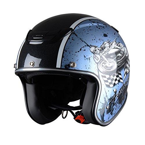 Astone Helmets Sporster Helm, Tuner Himmel Blau, XS
