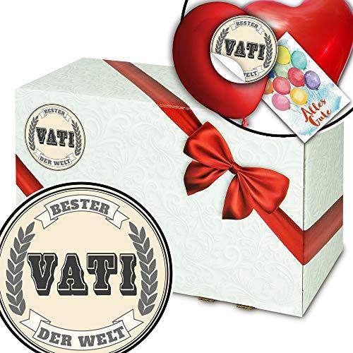 Bester Vati der Welt + Geschenk Box Karton + Geburtstag Geschenk