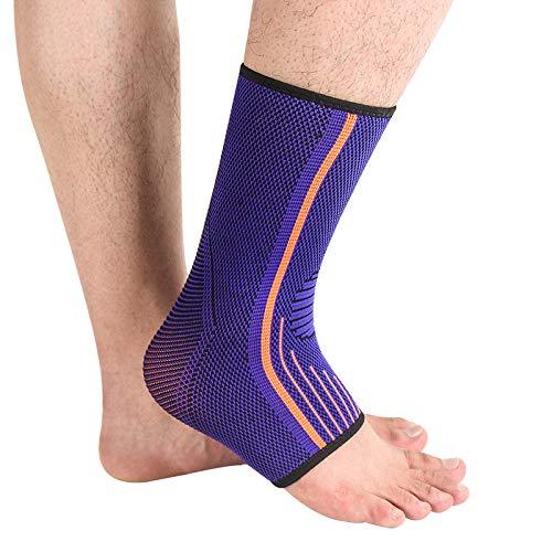 Y-fodoro 1 par de calcetines deportivos de soporte para el tobillo, fascitis plantar deportiva de compresión, para calcetines de seguridad antiescaras para fútbol de baloncesto-L
