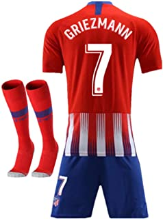 bf0ccd481 2018-2019 Atletico Madrid  7 Griezmann Home Kids Or Youth Red Soccer Jersey