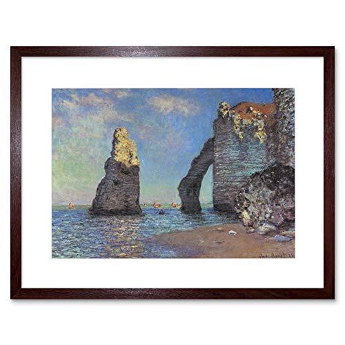The Art Stop Painting Monet Rocky Cliffs Etretat Old Master Framed Print F12X2983
