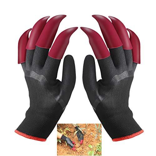 IME Gartenhandschuhe mit Krallen Wasserdicht Garten Genie Handschuhe zum Graben Pflanzen Bauernhof, Arbeitshandschuhe mit 8 Krallen Beste Wahl für Garten
